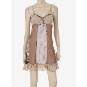 Forla Paris Patchwork Boho Slip Dress